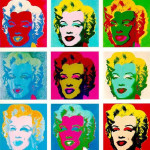 "A. WARHOLS : ""Marylin"" (1962)."