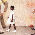 Norman ROCKWELL : The problem we all live with (1964)
